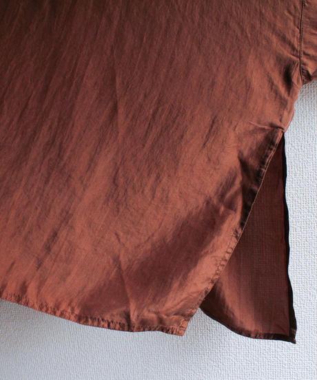 【Seek nur】Brown Silk Over Blouse
