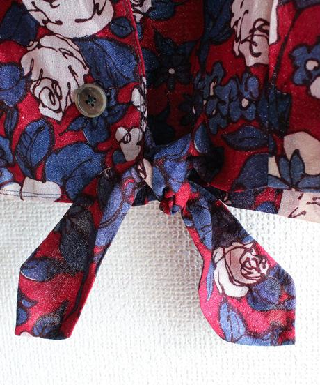 【Seek nur】Flower Tie Front Shirt