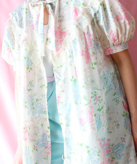 【tiny yearn】Euro Flower Handmade Night Gown