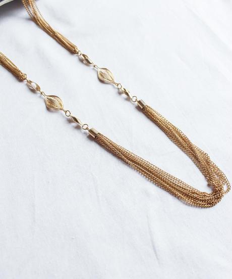 Vintage Curves Chain Long Necklace