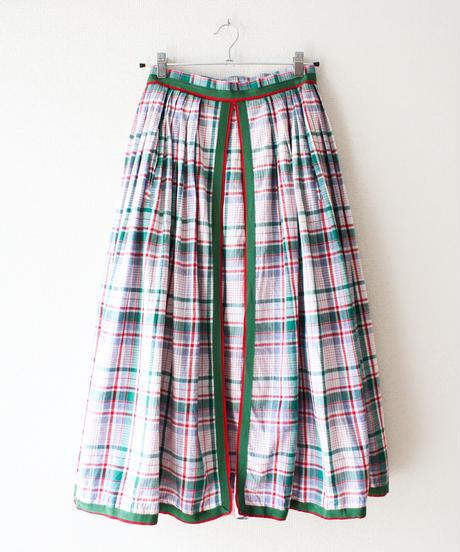 【tiny yearn】Austria Check Flare Skirt