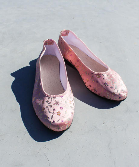 【tiny yearn】Small Flower Embroidery China Shoes