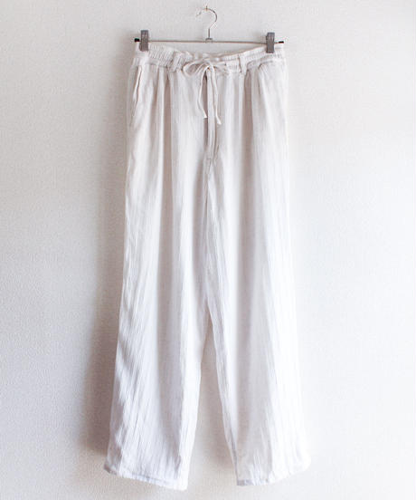 【tiny yearn】White Linen Easy Pants