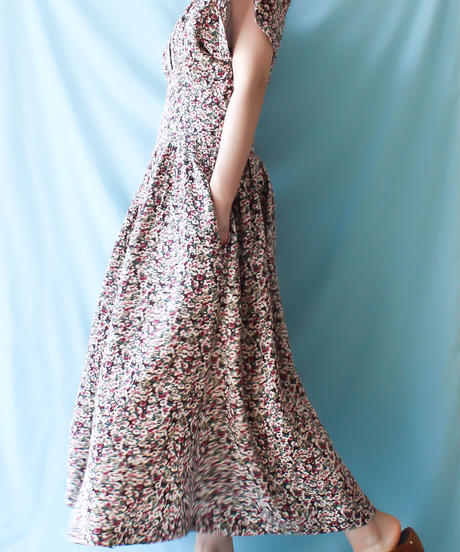 【tiny yearn】Lace×Flower Long Dress