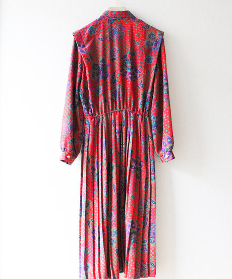 【tiny yearn】Paisley Pleats Shirt Dress