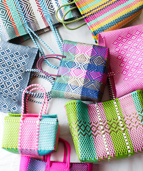 Plastic woven bags in Mexico/S