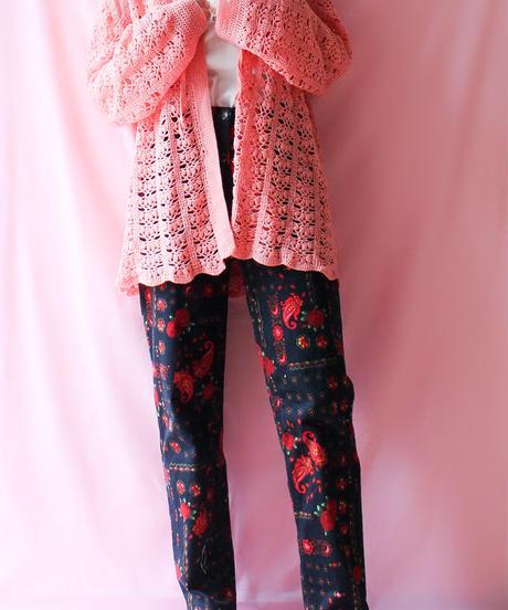 【tiny yearn】Handmade Crochet Knit Long Cardigan