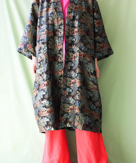 【tiny yearn】Embroidery Black China Gown