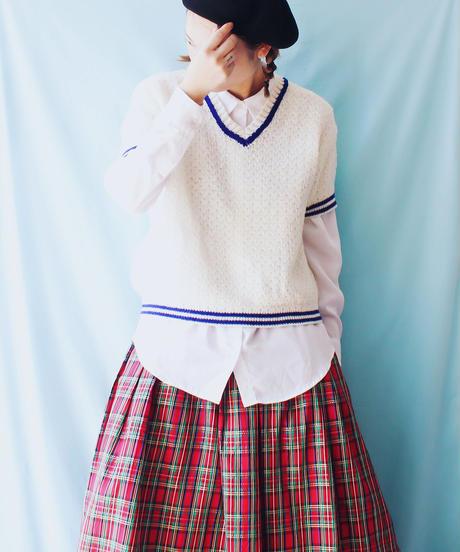 【tiny yearn】W-Germany Short sleeve Tilden Knit