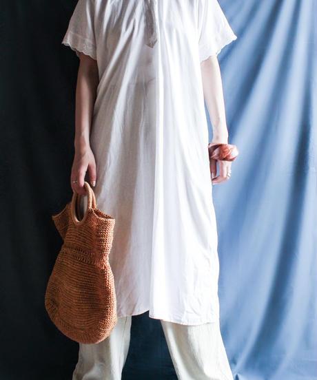 【Seek nur】 Early 20th c.Euro Night Cotton Shirt Dress