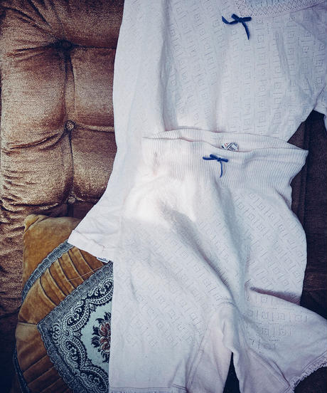 【Sway】<Made in EURO Underwear> Short sleeve Set up:Pink