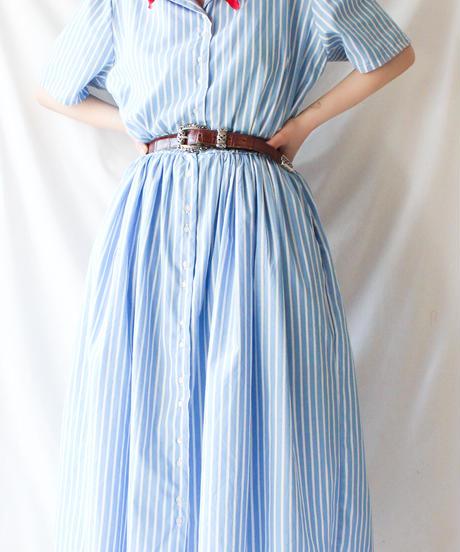 【Seek an nur】L.L.Bean Stripe Shirt Dress