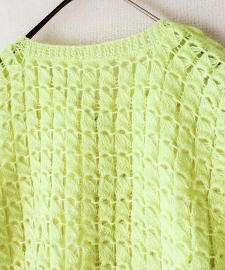 【tiny yearn】Neon Knit Crochet Hand Cardigan