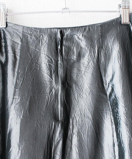 【Seek nur】Metallic Gray Long Skirt