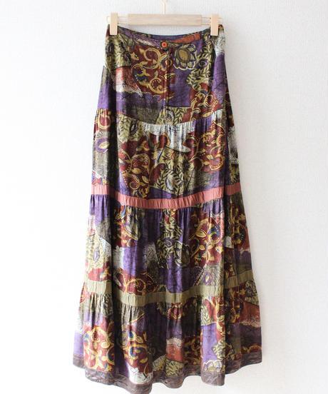 【Seek an nur】Euro Scarf Tierd Long Skirt