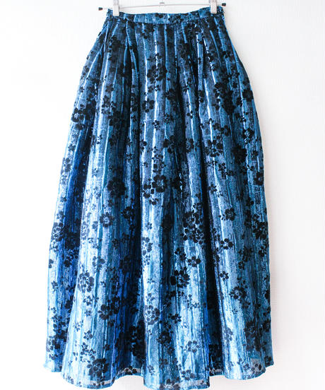 【tiny yearn】Euro Metallic Flower Long Skirt