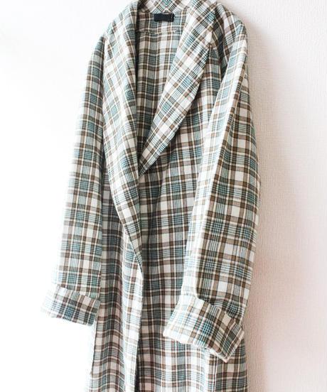 【Seek nur】Green×Brown Wool Check Gown