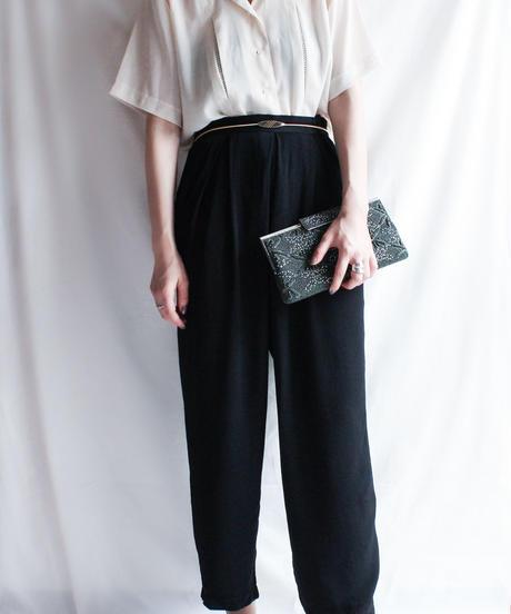 【Seek nur】Black Tapered Pants