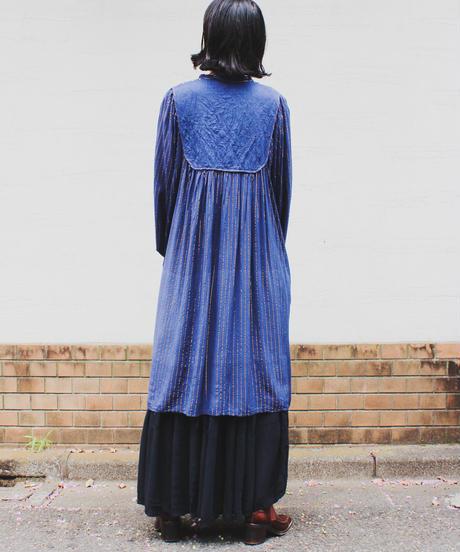 【Seek an nur】Metallic Stripe Balloon Sleeve Dress