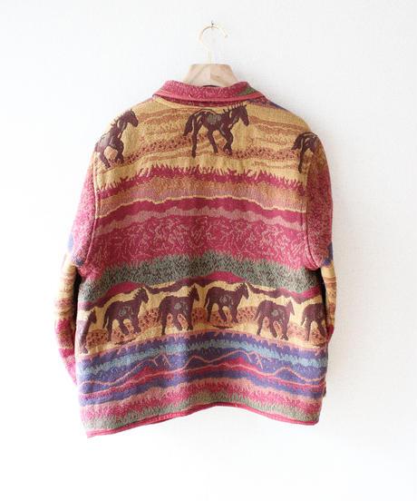 【tiny yearn】Horses Over Rug Jacket