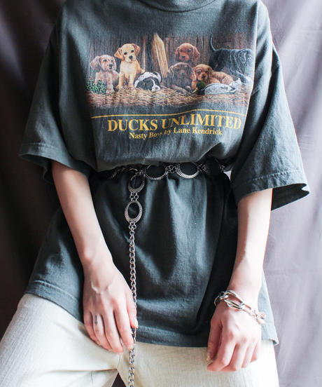 【Seek nur】Dogs Print Big T-shirt