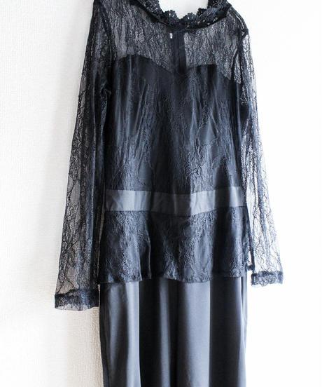 【Seek nur】Black Lace Design Jumpsuits