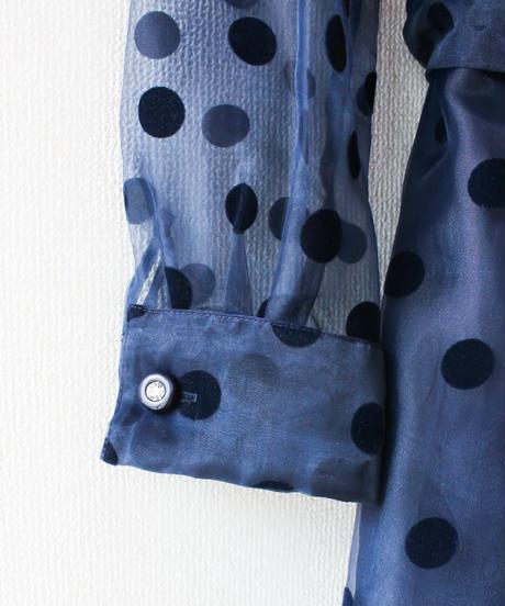 【Seek an nur】Coin Dot Sheer Wrap Mini Dress