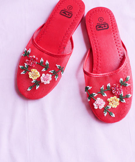 Vietnam Red Mesh Sandal