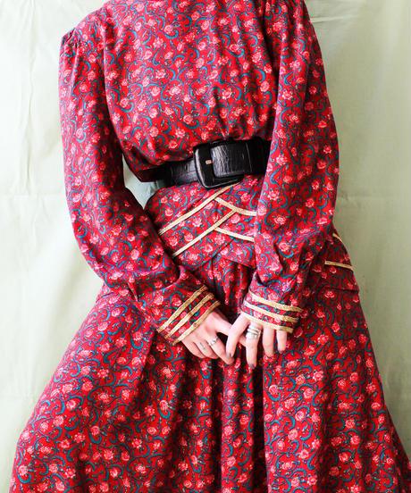 【tiny yearn】Flower Peplum Flare Dress