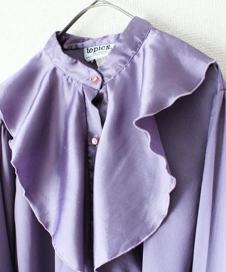 【Seek nur】Lavender Frill Design Blouse