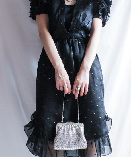Silver Metal Mesh Hand Bag
