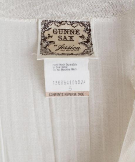 【Seek nur】1970's Gunne Sax White Lace Dress