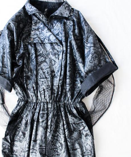 【Seek an nur】Euro Metallic Design Jumpsuit