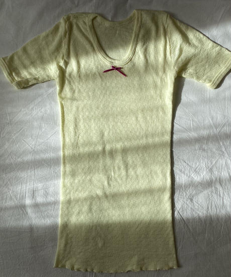【Sway】<Made in EURO Underwear> Short sleeve Set up:Yellow