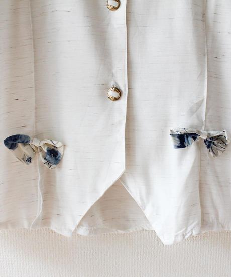 【Seek an nur】France Flower Lace Collar Blouse