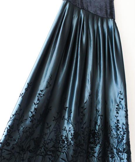 【Seek an nur】Velvet×Metallic Long Dress