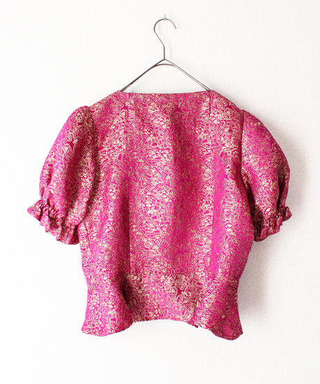 【tiny yearn】Euro Metallic Embroidery Blouse