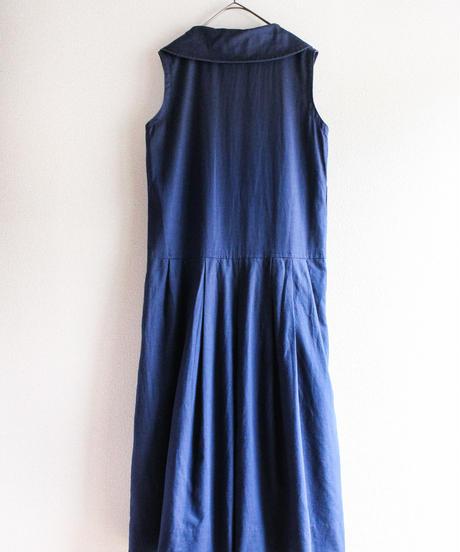【Seek nur】1960's Big Collar Linen Dress