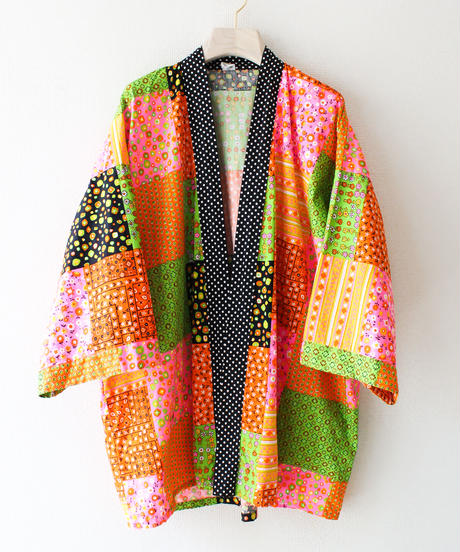 【tiny yearn】1970's Patchwork Print Gown