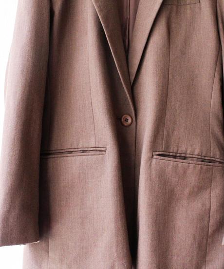 【Seek nur】Brown Wool Tailored Jacket