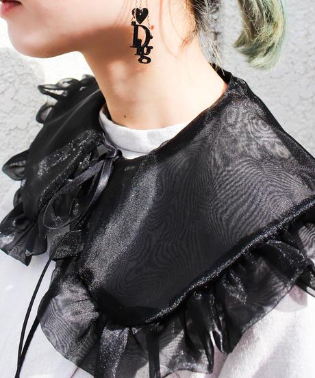 【Original】Organdie attached collar/Black