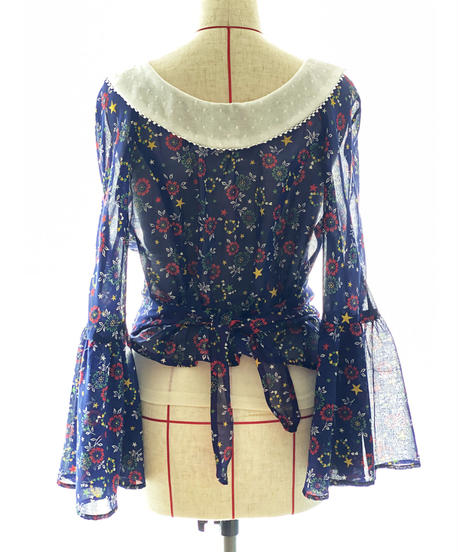【Sway】<Star & Spark Flowers> Vintage fabric Cache-coeur Blouse