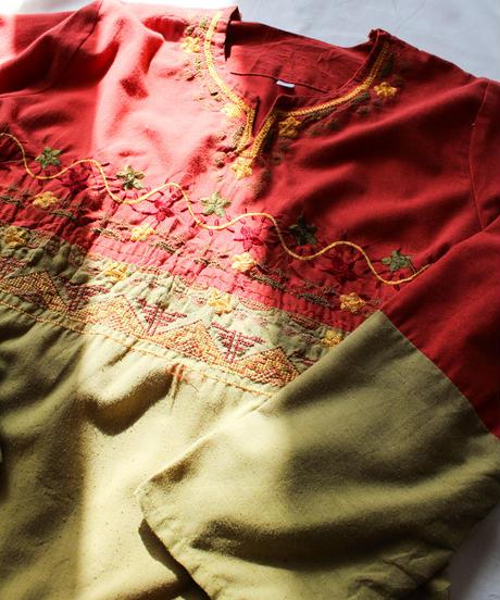 【Seek nur】Embroidery Cotton Maxi Dress