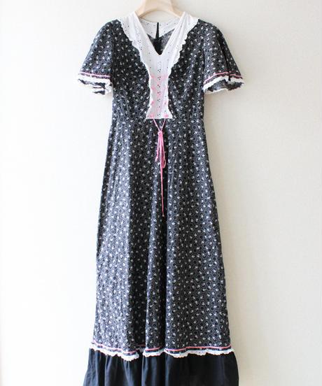 【tiny yearn】1970's Euro Flower Maxi Dress