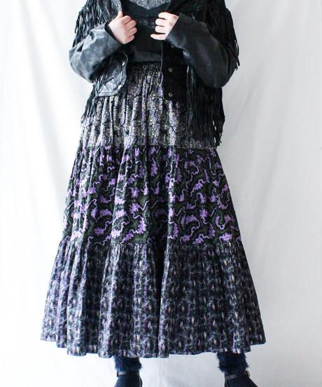 【Seek nur】Fringe Design Black Leather Jacket