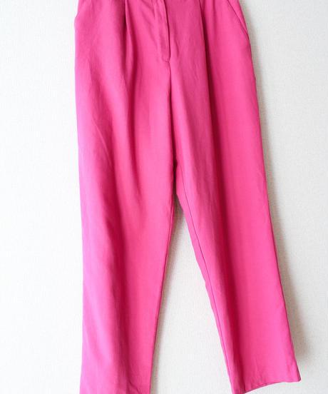 【tiny yearn】Vivid Pink Tapered Pants