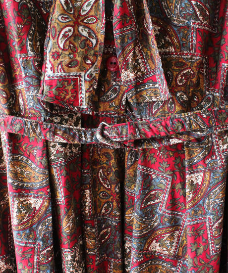 【Seek an nur】1950's Paisley Flare Dress