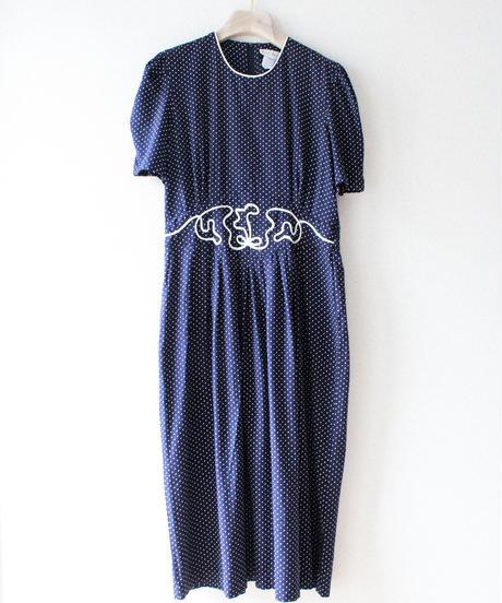 【tiny yearn】Pin Dot Design Long Dress