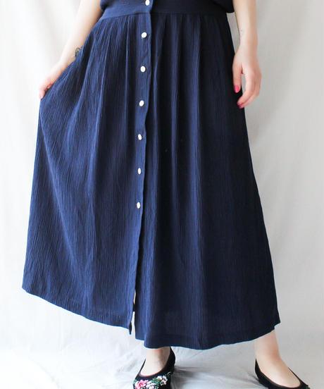 【Seek an nur】Lace collar Shirt Long Dress