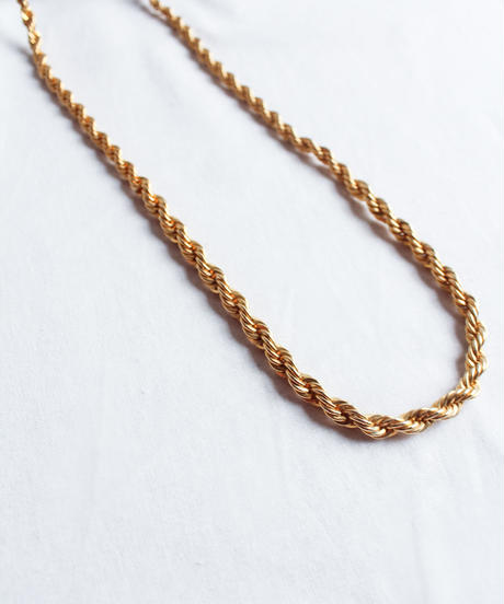 Vintage French Rope Chain Necklace